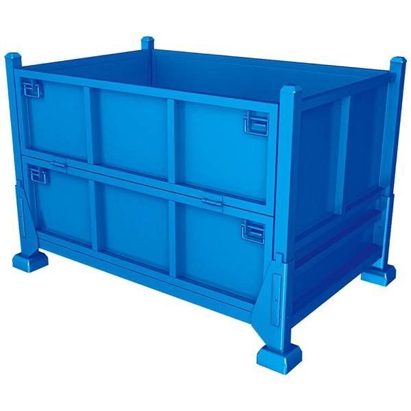 Foldable metal iron box