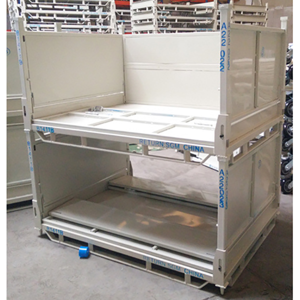 Foldable metal turnover box