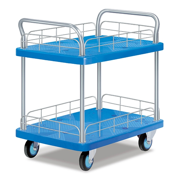 Double-layer double armrest guardrail trolley