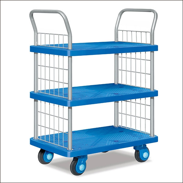 Three-story ultra-secure book cart