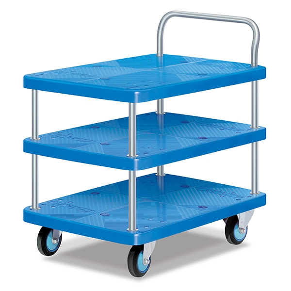 Three-layer single armrest full static trolley