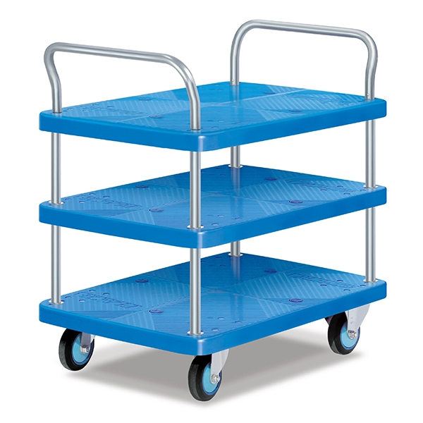 Three-layer double armrest full static trolley