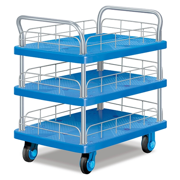 Three-layer double armrest ultra-quiet trolley