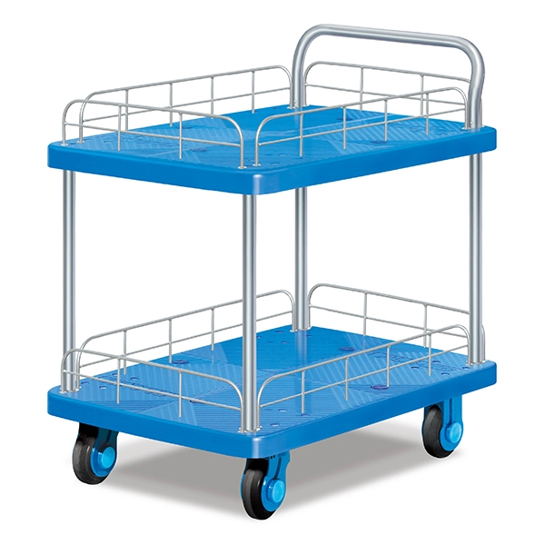 Double guardrail super static trolley