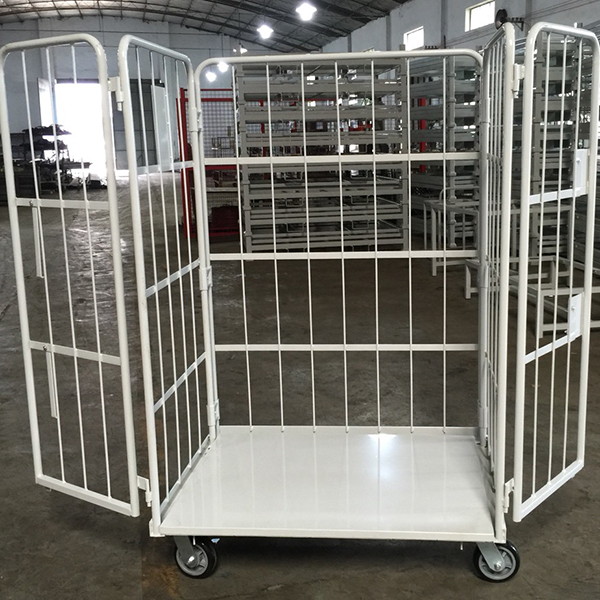 Folding logistics trolley