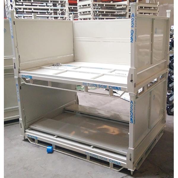 折りたたみ式金属製ターンオーバーボックス